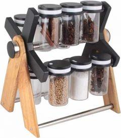 VRENTERPRISE Spice Rack Jar for Kitchen Essential (Pack of 12)