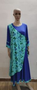 Women Designer F layered Long Anarkali Rayon Kurti