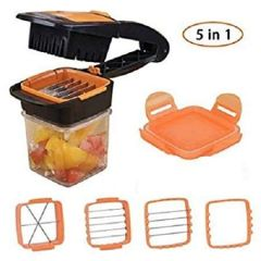 Vaishvi Multi-Functional Stainless Steel Vegetables Quick Cutter Dicer Kits Onion Fruits Fast Chopper Slicer Kitchen Tools (Pack of 1)