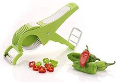 2 In 1  Vegetable Cutter 5 Sharp Blade With Peeler ( Multicolour )