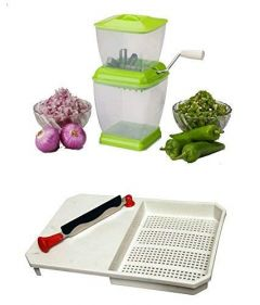 Vegetable Cutter with Blade Plus Washer and Onion   Vegetable and Chilly Cutter (Combo)