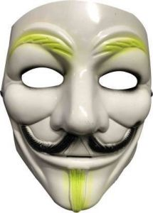 PTCMART Vendetta Comic Face Mask Anonymous V for Guy Fawkes Party Mask(White, Pack of 1)