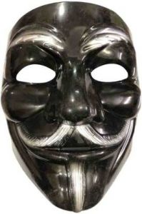 PTCMART Vendetta Mask Comic Mask For Party Costumes (Multicolor, Pack of 1)
