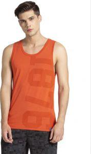 JOCKEY Regular Fit Vest Sleeveless For Men's (Orange) (Pack of 1)