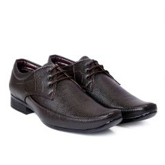 Bxxy Men's Faux Leather Office Wear Derby Formal Lace-Up Shoes (Pack of 1)