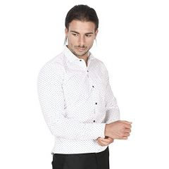 White Full Sleeve Cotton Casual Wear Shirt For Men