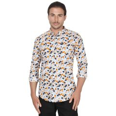 Printed Full Sleeve Cotton Shirt For Men Casual Wear