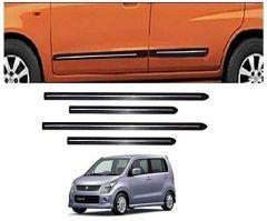 After Cars Maruti Suzuki Wagon R 2009 Car Black Side Beading with Chrome Line Set of 4