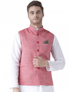 Men's Fashionable and Stylish Solid Nehru Jacket Waistcoat Sleeveless For Party and Wedding Wear(Pack of 1)