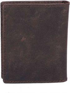 Men Brown Genuine Leather RFID Card Holder  (4 Card Slots)