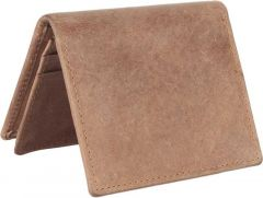 Men Brown Genuine Leather RFID Card Holder(15 Card Slots)