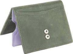 Men Green Genuine Leather RFID Card Holder(20 Card Slots)