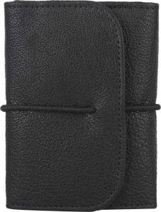 Men Black Genuine Leather RFID Card Holder(5 Card Slots)