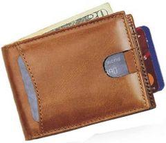 Men Brown Genuine Leather RFID Wallet  (5 Card Slots)