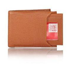 Stylish Leatherette Solid Card Holder Short Length Wallet For Men's (Brown) (Pack of 1)