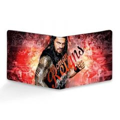 Homary Roman Reigns Printed Two Fold LeatherCasual 6 Card Slot Wallet For Men's (Multi-Color) (Pack of 1)