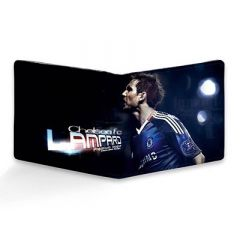Homary Chelsea Lampard Printed Two Fold Leather Casual 6 Card Slot Wallet For Men's (Multi-Color) (Pack of 1)
