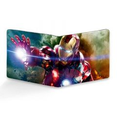 Homary Iron ManPrinted Two Fold Leather Casual 6 Card Slot Wallet For Men's (Multi-Color) (Pack of 1)