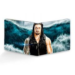 Homary Roman Reigns Printed Leather Casual 6 Card Slot Wallet For Men's (Multi-Color) (Pack of 1)