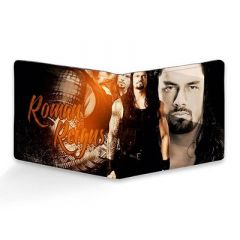 Canvas Roman Reigns Printed Leather Casual 6 Card Slot Wallet For Men's (Multi-Color) (Pack of 1)