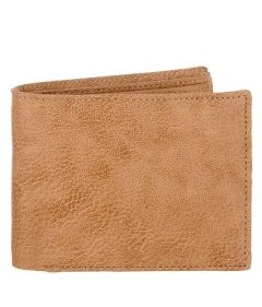 Two Fold Textured Leather Casual 6 Card Slot Wallet For Men's (Tan) (Pack of 1)