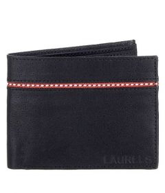 Two Fold Textured Leather Casual 4 Card Slot Semi Formal Wallet For Men's (Black) (Pack of 1)