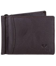 WALRUS Two Fold Textured Leather Casual 6 Card Slot Wallet For Men's (Brown) (Pack of 1)