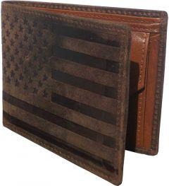 Men Brown Genuine Leather RFID Wallet  (4 Card Slots)