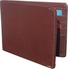Men Brown Genuine Leather RFID Wallet  (10 Card Slots)