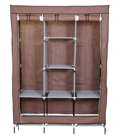 Fancy Portable Fabric Collapsible Foldable Clothes Closet Wardrobe Storage Rack Organizer Cabinet Cupboard