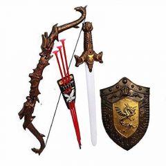 Warrior Set - Knights Fancy Dress Kids Cosplay - Bow Archery , Kings Sword & Shield (Pack Of 1)