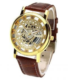 Stylish & Fashionable With Rounded Shape Watch For Men's & Boy's (Brown) | Pack of 1