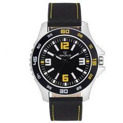 WALRUS Designer and Stylish Analog Watch With Synthetic For Men's (Black) (Pack of 1)
