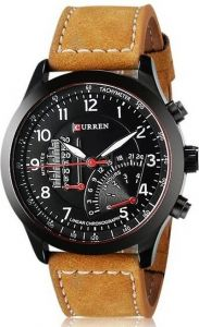 Analogue Designer and Stylish Strap Watch For Men's (Brown) (Pack of 1)