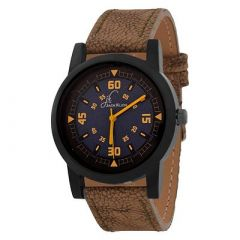 Jack Klein Stylish Synthetic Leather Quartz Analog Wrist Watch For Men's (Brown) (Pack of 1)