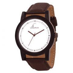 Jack Klein Stylish PU Strap Quartz Analog Wrist Watch For Men's (Brown) (Pack of 1)