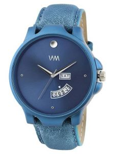 Stylish Synthetic Leather Analog Wrist Watch For Men's (Blue) (Pack of 1)