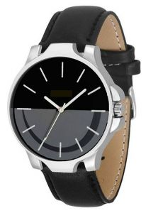 Trendy Stylish Leather Analog Wrist Watch Suitable Party, Weddings For Men's (Black) (Pack of 1)