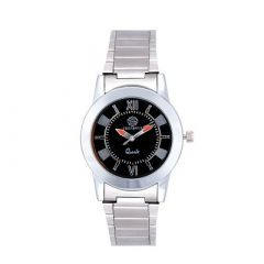 Stylish and Trendy Stainless Steel Metal Strap Analog Watch For Men's (Silver) (Pack of 1)