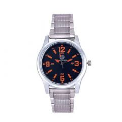 Stylish and Trendy Stainless Steel Metal Strap Analog Round Shape Watch For Men's (Silver) (Pack of 1)