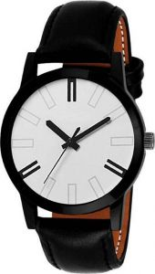 Analogue Designer and Stylish Printed Watch With Synthetic Leather For Men's (Black) (Pack of 1)