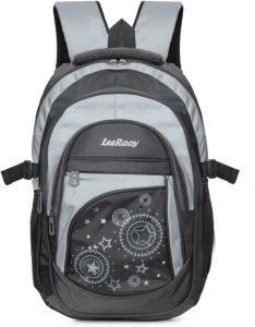 LeeRooy Large 38 L Laptop Backpack MN BG16 Black 17.5 inch B Type 24 liter Bag for Modern College Boys & Girls