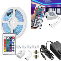 Waterproof RGB Remote Control Color Changing LED Strip Light  5 Meter