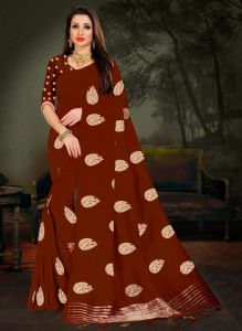 Women New Design Full Embroidered Saree With Blouse Piece (Pack of 1)