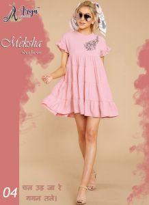 MEKSHA Western Rayon Cotton Sylish Dress for Women