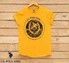Marvel Trendy Stylish Cotton Men's Printed T-Shirts (Yellow)