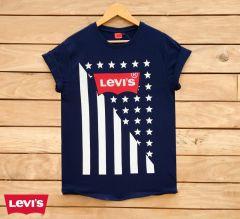 Marvel Trendy Stylish Cotton Men's Printed T-Shirts (Navy Blue)