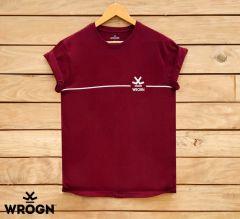 Marvel Trendy Stylish Cotton Men's Printed T-Shirts (Maroon)
