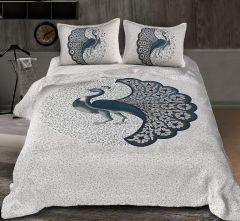 Marbal Queen Size Peacock Pattern Bedsheet