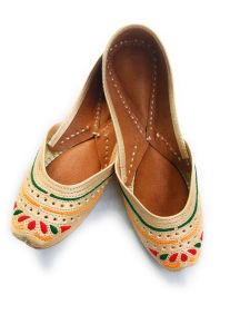 Culture Punjabi Jutti | Pure Leather Sole | Handmade Punjabi Jutti | Badami Touch | Best Quality Leather | Ladies Daily Wear Punjabi Jutti